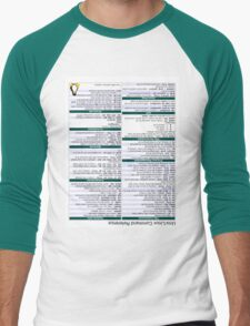 Linux Cheat Sheet Shirt Men's Baseball ¾ T-Shirt
