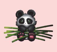 Panda Bamboo One Piece - Short Sleeve
