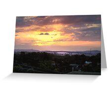 Sunset Over Gateway Bridge, Brisbane, QLD Greeting Card