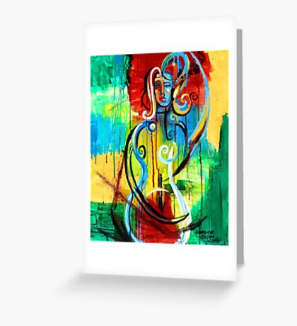 Woman Bass Greeting Card