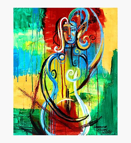 Woman Bass Photographic Print