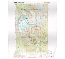 USGS Topo Map Washington State WA Mount Shuksan 242534 1989 24000 Poster