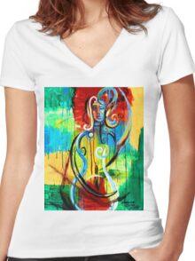 Woman Bass Women's Fitted V-Neck T-Shirt