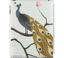 a peacock with pink flower iPad Case/Skin