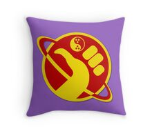 Dudeist Galactic Hitchhiker  Throw Pillow
