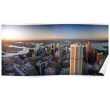 Sunset over Sydney Harbour Poster