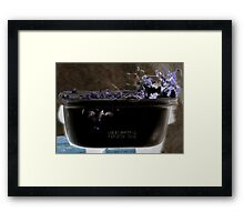 deli container use by Framed Print
