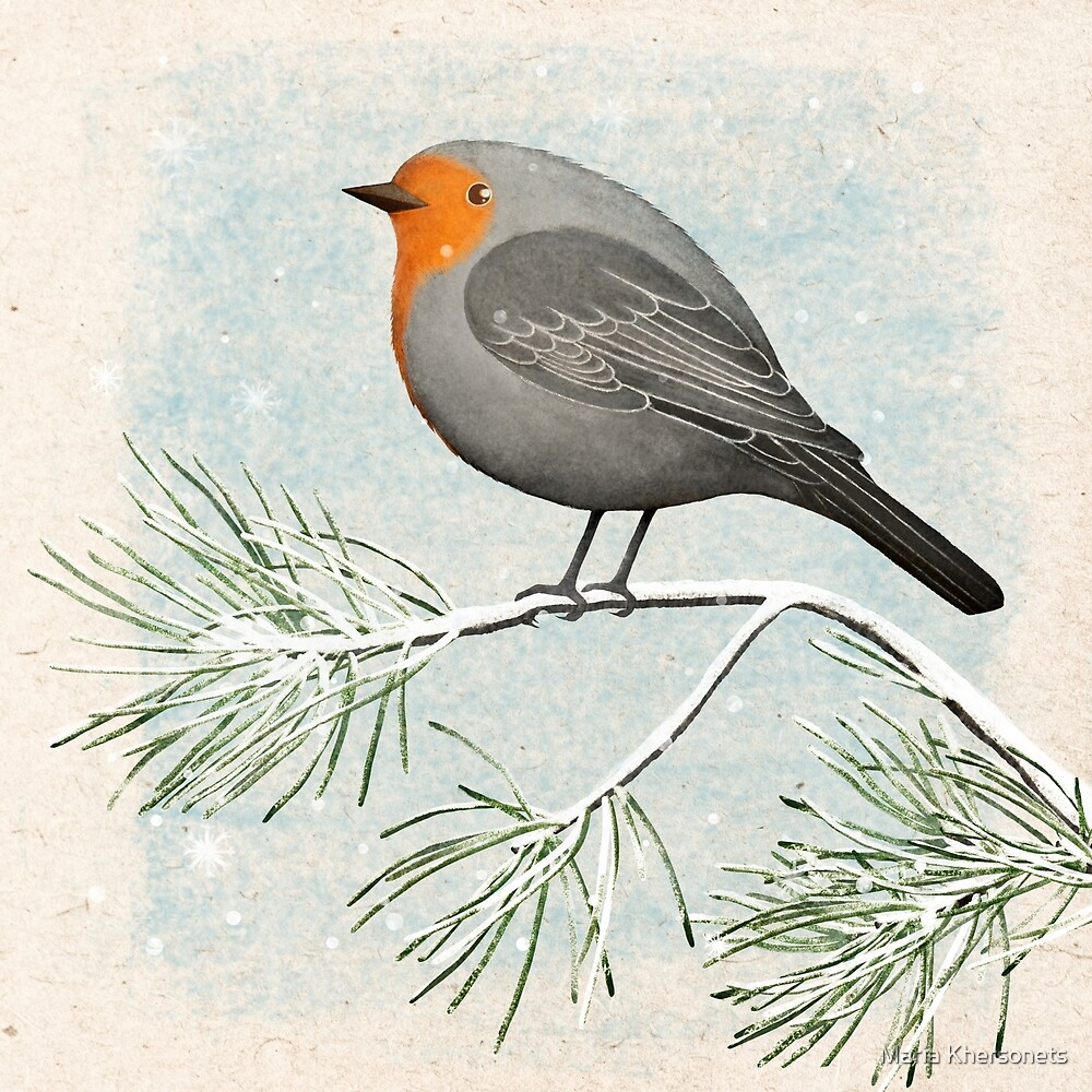 a winter robin by Maria Khersonets