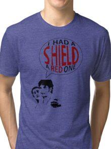 Hal had a shield! A red one! Tri-blend T-Shirt