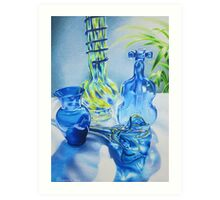 Blues Music in Glass Art Print