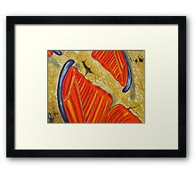 The Orange Blues Framed Print