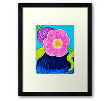 Tulips and Vase Framed Print