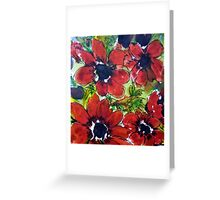 Gorgeous Red Anemones Pattern Greeting Card