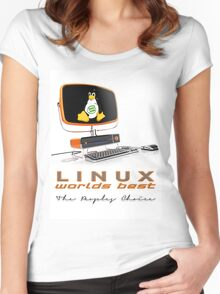Linux Worlds Best - The Peoples Choice Women's Fitted Scoop T-Shirt