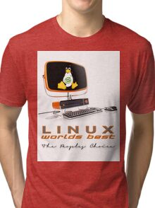 Linux Worlds Best - The Peoples Choice Tri-blend T-Shirt