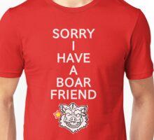 WINKING BOARFRIEND ALARM (dark shirts) Unisex T-Shirt