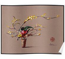 Dance of Spring - Ikebana Zen painting Poster