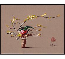 Dance of Spring - Ikebana Zen painting Photographic Print