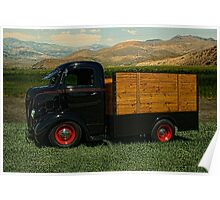 1942 Ford COE Grain Truck Poster