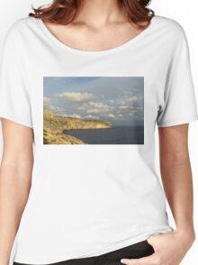 Sunlit Limestone Cliffs in Malta Women's Relaxed Fit T-Shirt