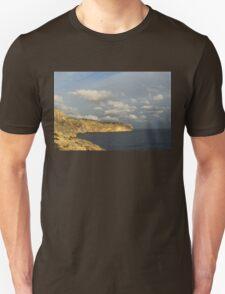 Sunlit Limestone Cliffs in Malta T-Shirt