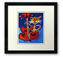BASSY CAT Framed Print
