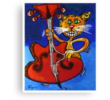 BASSY CAT Canvas Print