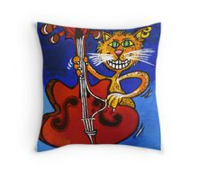 BASSY CAT Throw Pillow