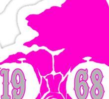 AberSkull 1968 Pink Sticker Sticker