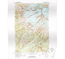 USGS Topo Map Washington State WA Mt Rainier West 242661 1971 24000 Poster