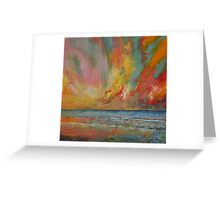 Hidden Heart Lava Sky Greeting Card