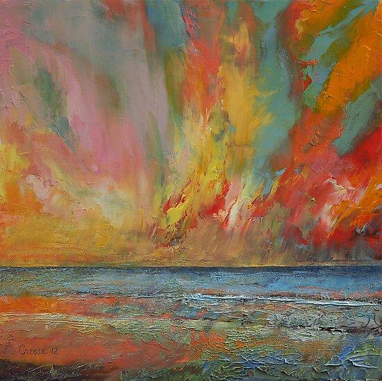 Hidden Heart Lava Sky by Michael Creese