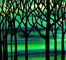 Spring Forest Abstract Painting by Irina Sztukowski