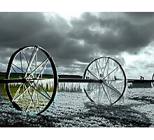 Focal Black and White *ICE WHEEL*~! Photographic Print