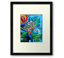 Spiral Bird Lady Framed Print