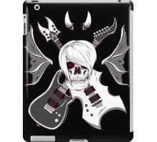 Evil Emo Skull Guitarist ( White version ) iPad Case/Skin
