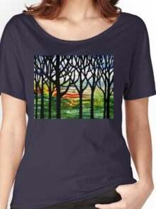 Summer Forest Abstract Painting Women's Relaxed Fit T-Shirt