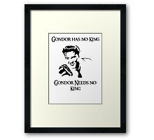 Gondor Lacks Elvis Framed Print