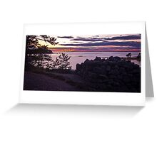 Sunset at Eestiluoto Greeting Card