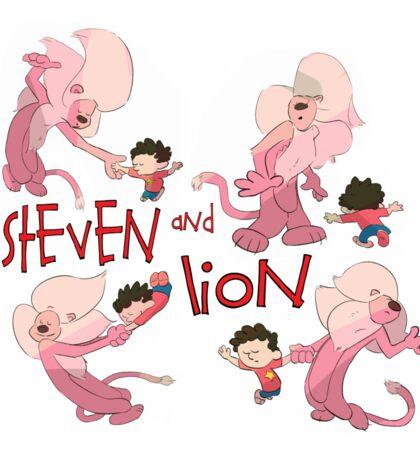 Steven and Lion. Sticker