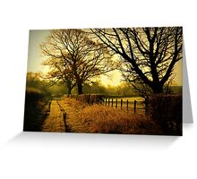 """A CRISP WINTER MORN"" Greeting Card"
