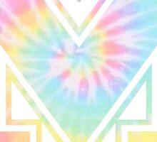 University of Michigan logo tie dye Sticker