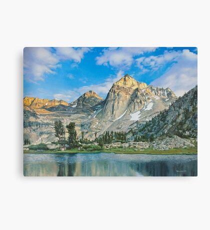 Mountains at morning Canvas Print