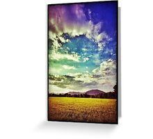 Clouds run in sunset Greeting Card