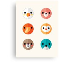 Smiley Faces - Set 1 Canvas Print