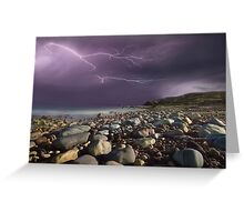 Fury Of Lightning Greeting Card