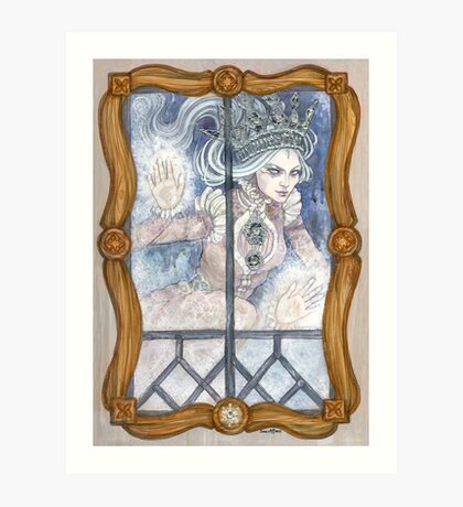 Snow Queen at the window Art Print