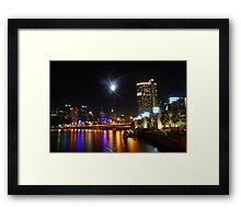 Melbourne's Yarra River on New Year's Eve Framed Print
