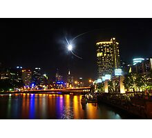 Melbourne's Yarra River on New Year's Eve Photographic Print