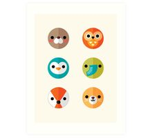 Smiley Faces - Set 2 Art Print